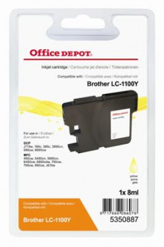 Cartridge Office Depot Brother LC1100Y  - žltá