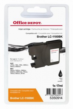 Cartridge Office Depot Brother LC1100BK  - čierna
