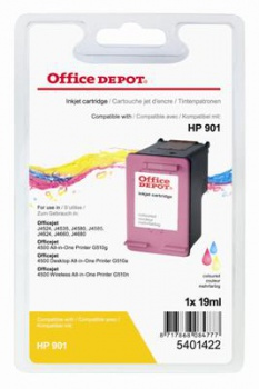 Cartridge Office Depot HP CC656AE/901 - trojfarebná
