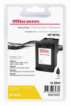 Cartridge Office Depot HP CC654AE/901 XL - čierna