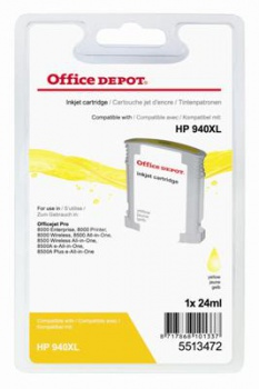 Cartridge Office Depot HP C4909AE/940XL - žltá