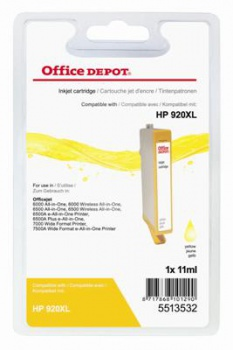 Cartridge Office Depot HP CD974AE/920XL - žltá