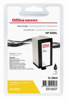 Cartridge Office Depot HP CD975AE/920XL - čierna