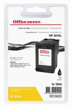 Cartridge Office Depot HP CH563EE/301XL - čierna