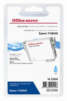 Cartridge Office Depot Epson T1282 - azúrová