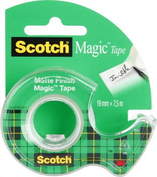 Lepiaca páska Scotch Magic so zásobníkom, 19 mm x 7,5 m