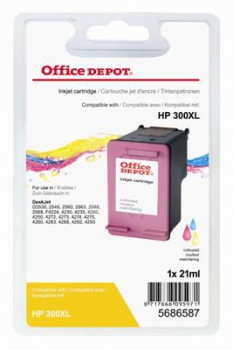 Cartridge Office Depot HP CC644EE/300 XL - trojfarebná