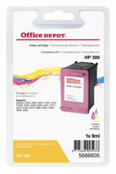 Cartridge Office Depot HP CC643EE/300 - trojfarebná