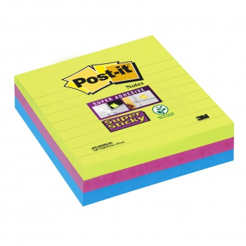 Bločky Post-it super sticky farebné 101 x 101 mm