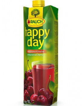 Džús HAPPY DAY - višňa, 1 l