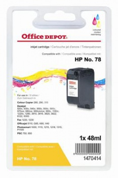 Cartridge Office Depot HP C6578A/78 - trojfarebna