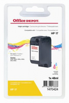 Cartridge Office Depot HP C6625A/17 - trojfarebná