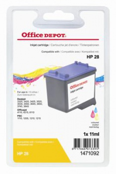Cartridge Office Depot HP C8728A/28 - trojfarebná