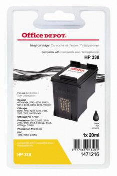 Cartridge Office Depot HP C8765EE/338 - čierna