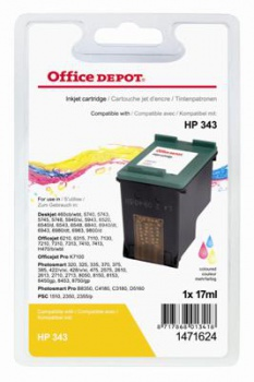 Cartridge Office Depot HP C8766EE/343 - trojfarebná
