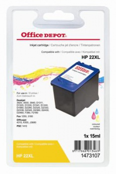 Cartridge Office Depot HP C9352A/22 - trojfarebná