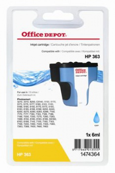 Cartridge Office Depot HP C8771EE/363 - azúrová