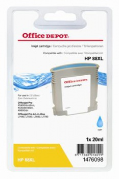 Cartridge Office Depot HP C9391AE/88 - azúrová