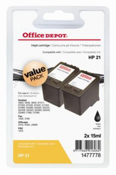 Cartridge Office Depot HP C9351A/21 - čierna