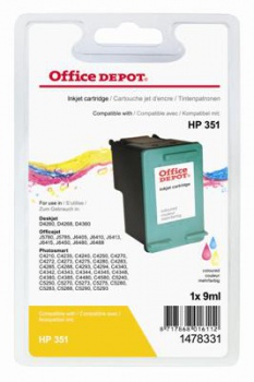 Cartridge Office Depot HP CB337EE/351 - trojfarebná
