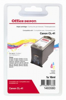 Cartridge Office Depot Canon CL41 - trojfarebná