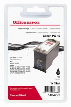 Cartridge Office Depot Canon PG-40  - čierna