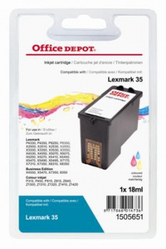 Cartridge Office Depot Lexmark 18C0035E - trojfarebná