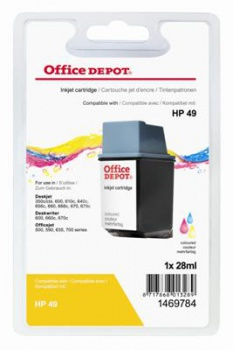 Cartridge Office Depot HP 51649A/49 - trojfarebná