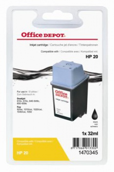 Cartridge Office Depot HP C6614D/20 - čierná