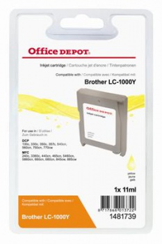 Cartridge Office Depot Brother LC1000CY - žltá