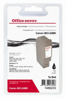 Cartridge Office Depot Canon BCI-24BK - čierna