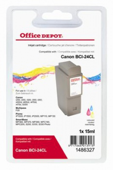 Cartridge Office Depot Canon BCI-24C - trojfarebná