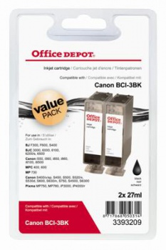 Cartridge Office Depot Canon BCI-3E - čierna