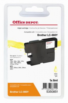 Cartridge Office Depot Brother LC980Y - žltá