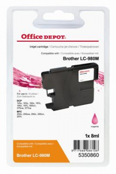 Cartridge Office Depot Brother LC980M - purpurová