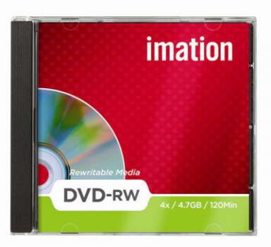 DVD-RW Imation, štandard box 10 ks