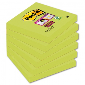 Bločky Post-it Super Sticky - špargľové, 76,0 x 76,0 mm