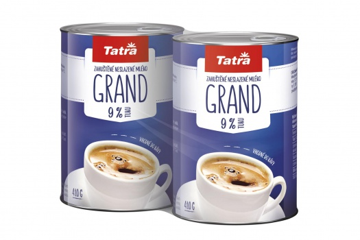 Mlieko do kávy Tatra v plechovke - Grand 9%, Duo Pack