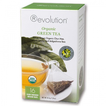 Čaj Revolution Organic - Green Tea 16 x 2,2 g