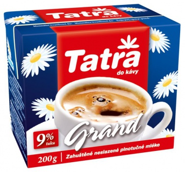 Mlieko do kávy Tatra - Grand 9 % tuku, 200 g