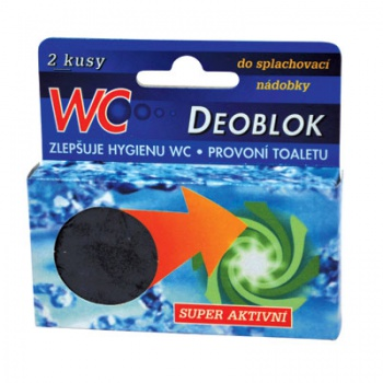 Tablety WC DEOBLOCK - do nádrže, 45 g