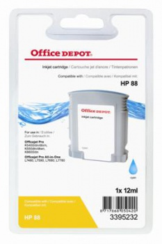 Cartridge Office Depot HP C9386A /88 - azúrová