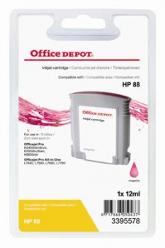 Cartridge Office Depot HP C9387A/88 - purpurová
