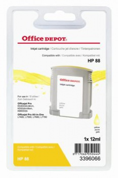Cartridge Office Depot HP C9388A/ 88 - žltá