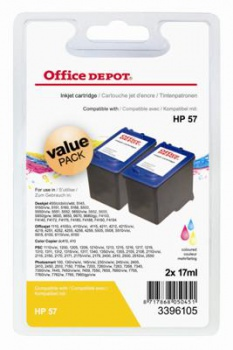 Cartridge Office Depot HP C9503A/57 - trojfarebna