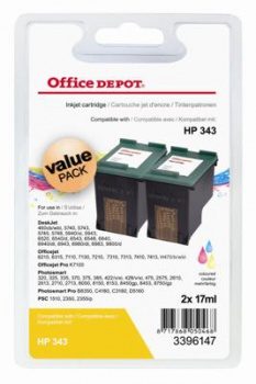 Cartridge Office Depot HP CB332EE/C343 - trojfarebna